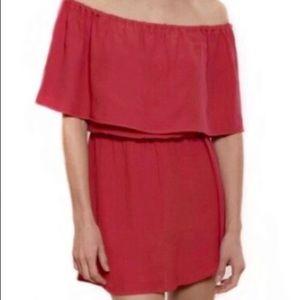 Red Rose Salsa Ruffle Dress
